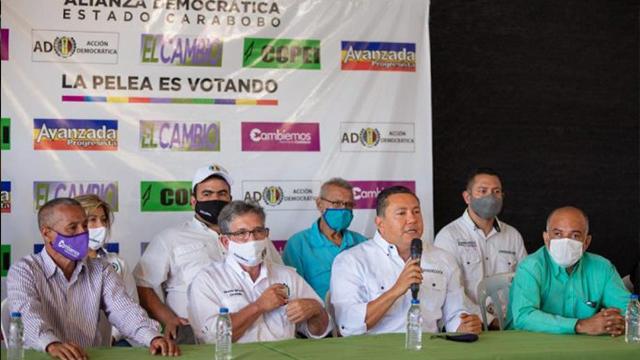 Bertucci presentó candidatos a diputados de Alianza Democrática por Carabobo
